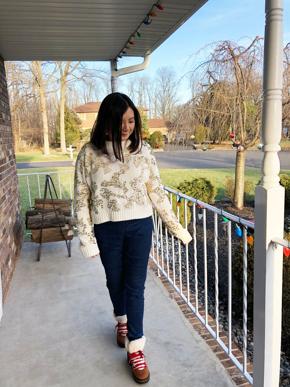 Gold Sequin Sweater 11