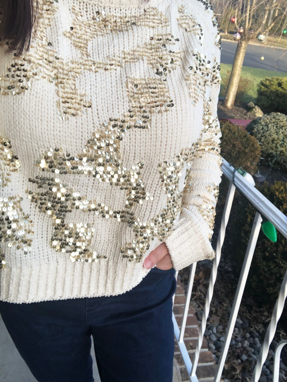 Gold Sequin Sweater 18