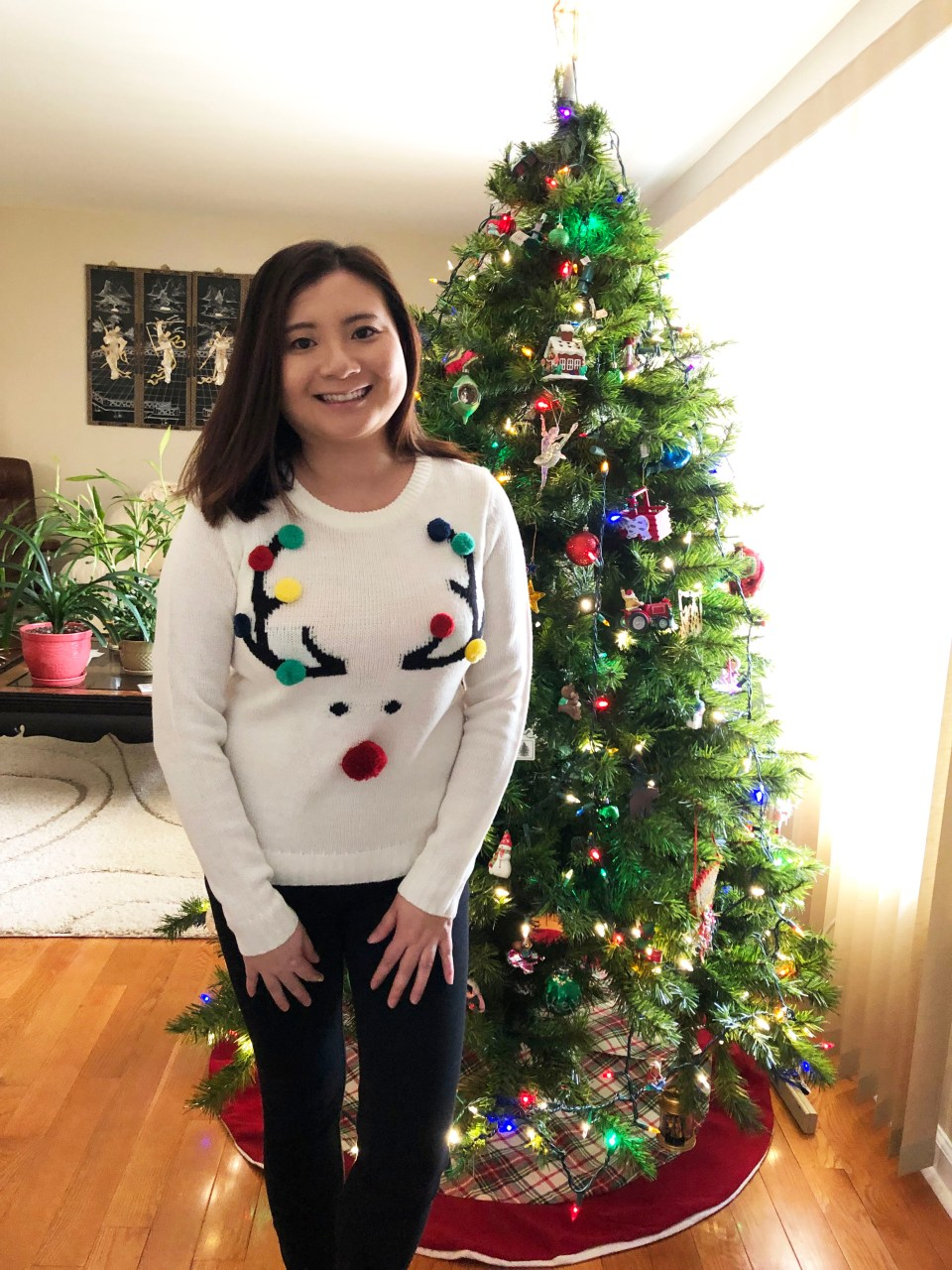 Pompom Reindeer Sweater 1