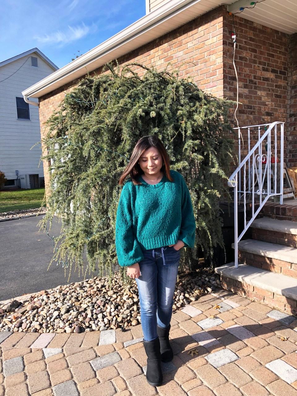 Teal Argyle Sweater 14