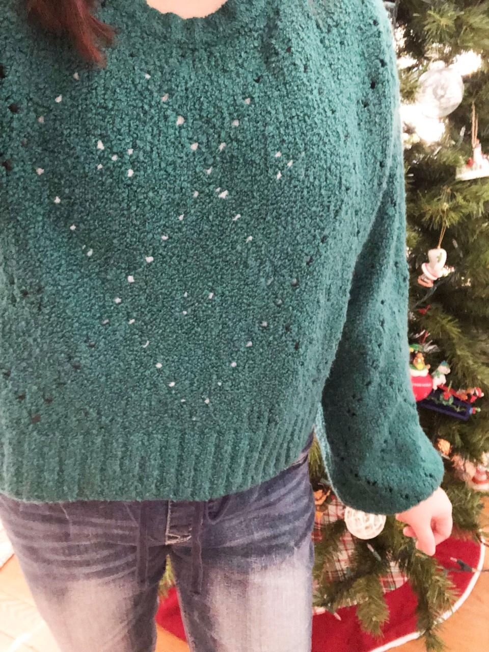 Teal Argyle Sweater 15