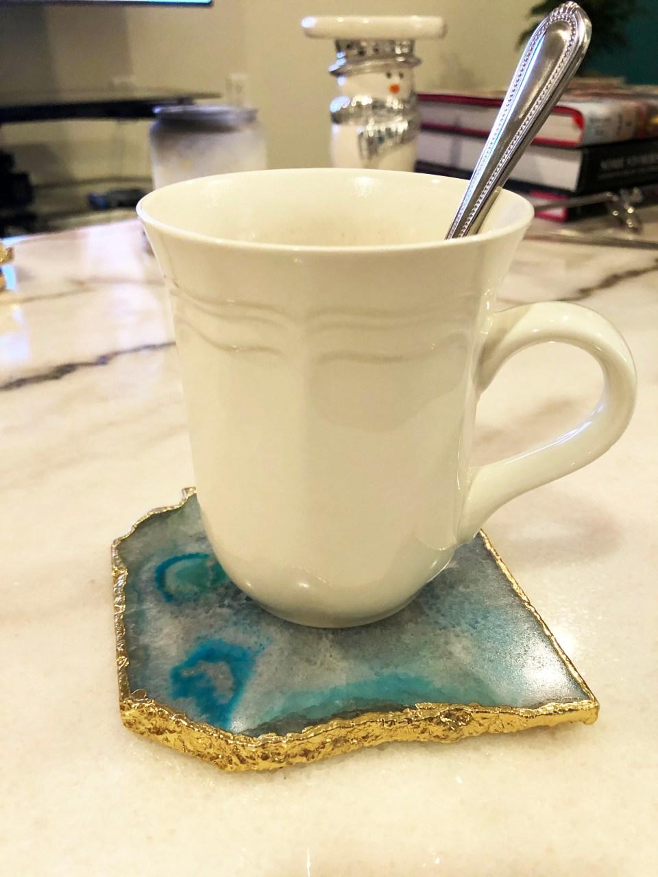 Blue Agate Coasters 3