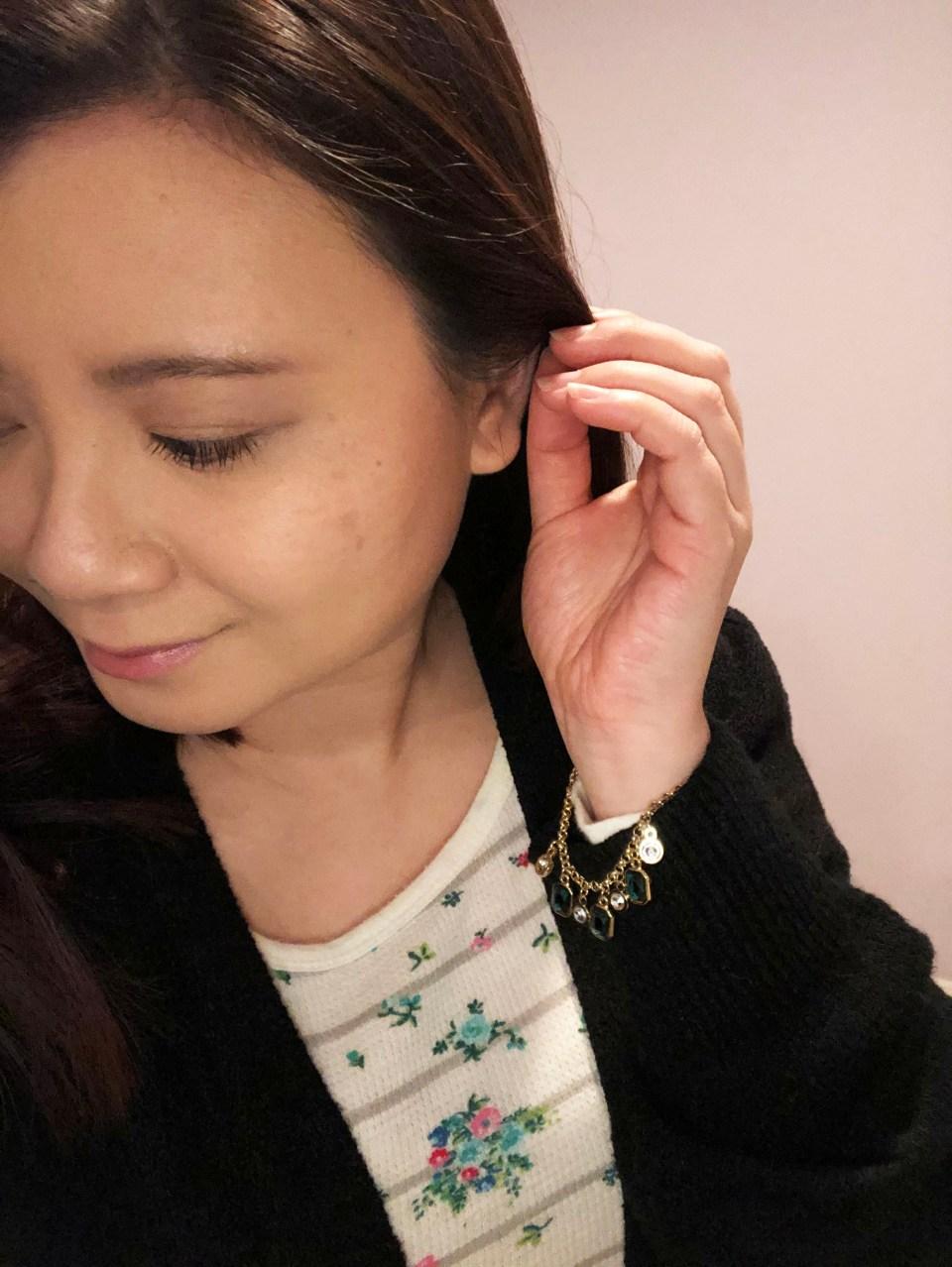 Emerald Pull Chain Bracelet 4