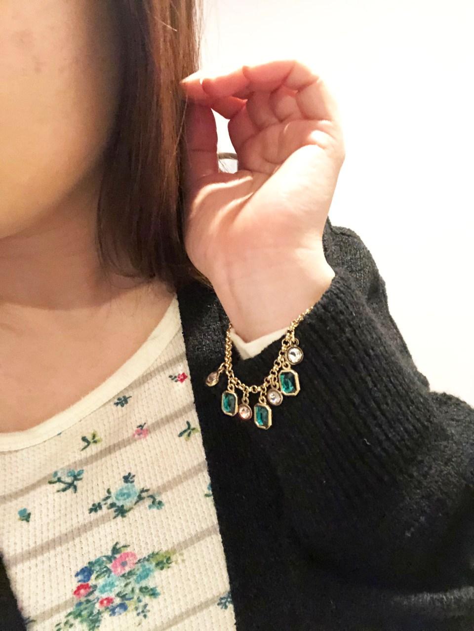 Emerald Pull Chain Bracelet 5