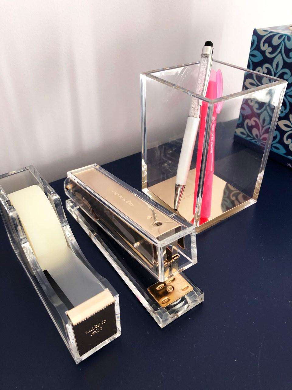 Kate Spade Acrylic Desk Accessories
