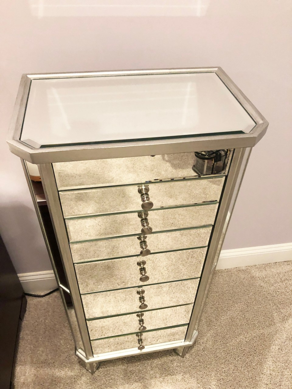 Mirrored Jewelry Armoire 3