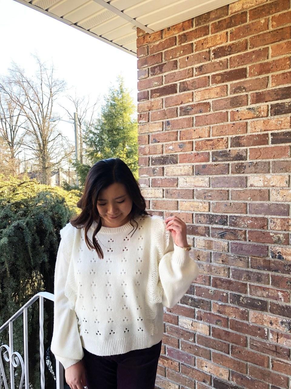 Eyelet Ruffle Sweater 10