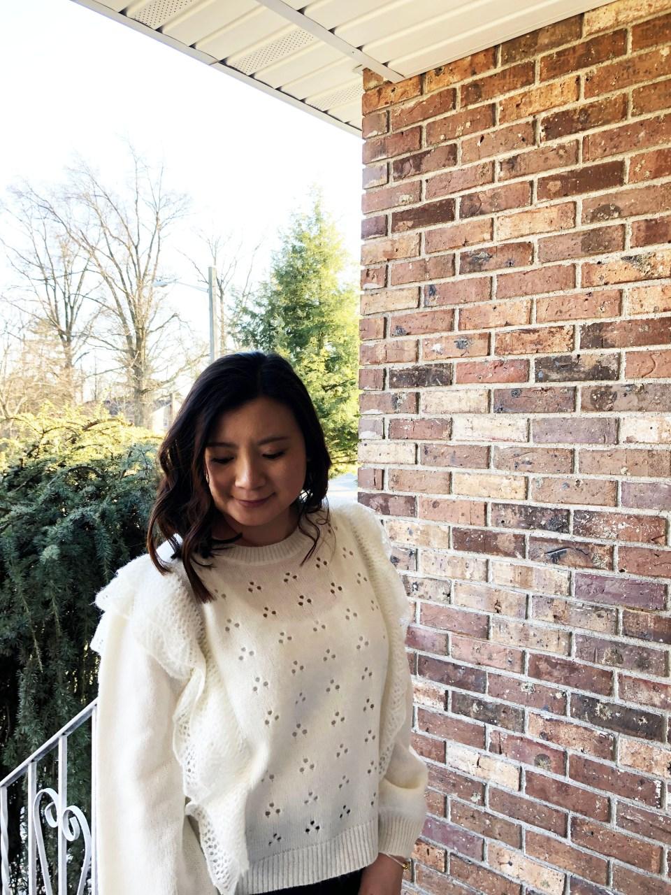 Eyelet Ruffle Sweater 11