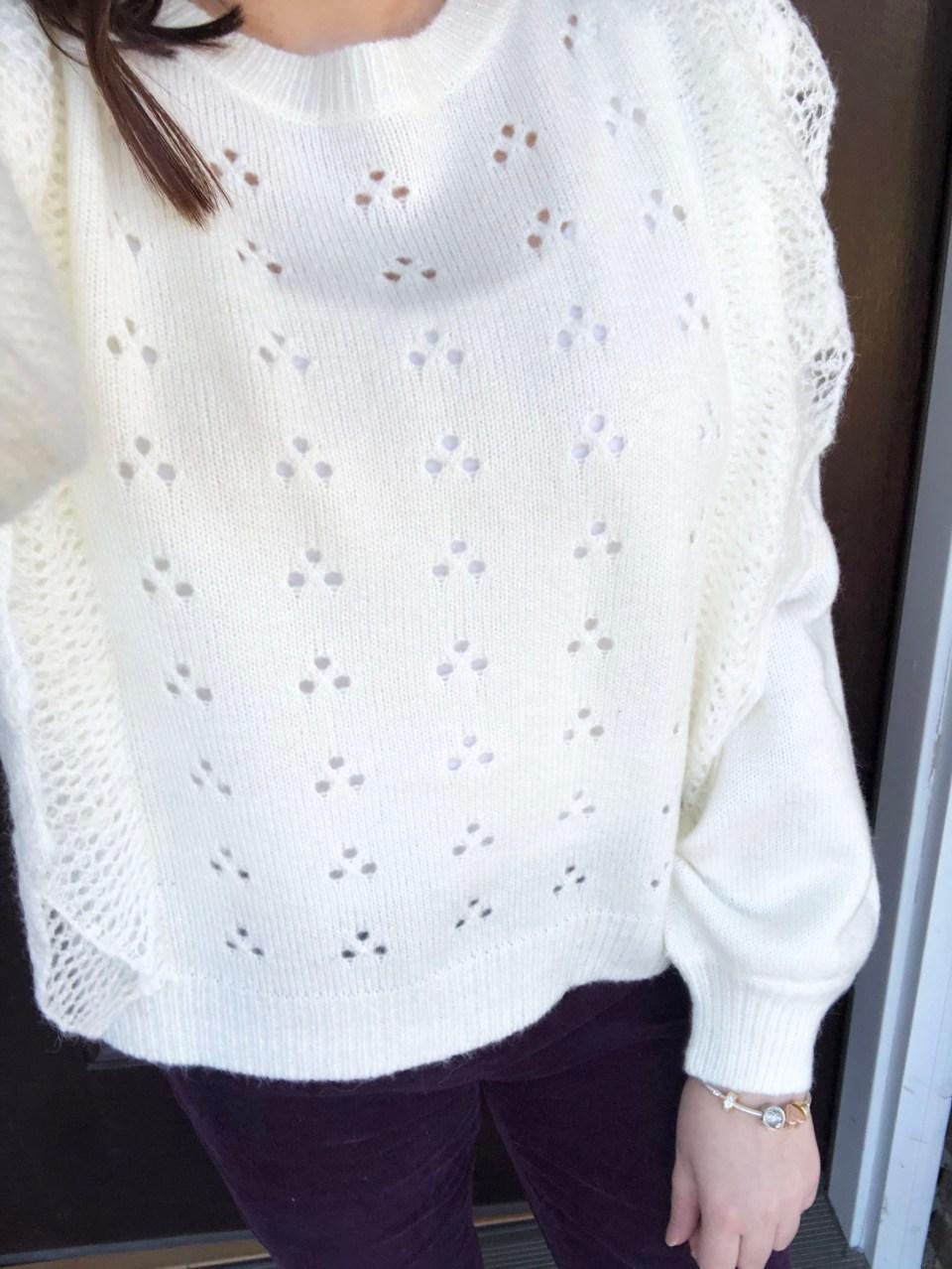 Eyelet Ruffle Sweater 12
