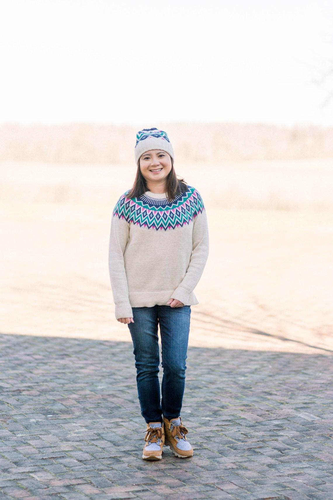 Fair Isle Sweater + Beanie