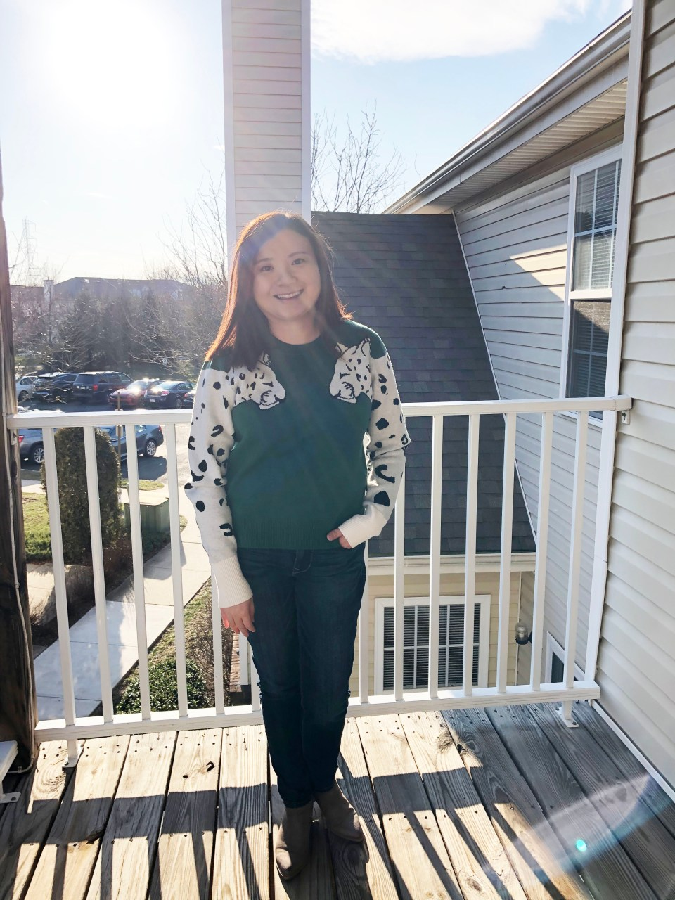 Leopard Sleeve Sweater 13