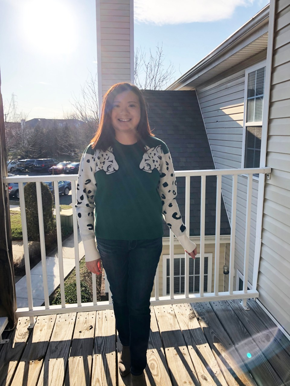 Leopard Sleeve Sweater 14