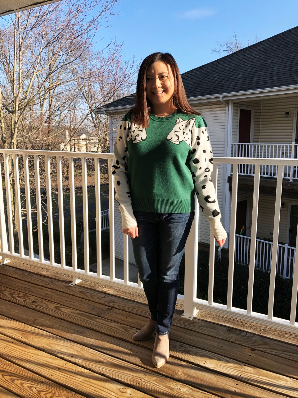 Leopard Sleeve Sweater 3