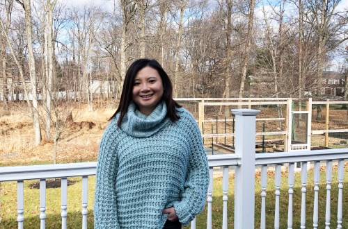 Oversized Knit Cowl Neck Sweater