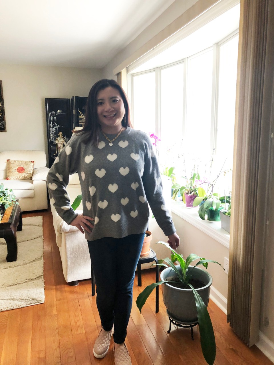 White Heart Sweater 1