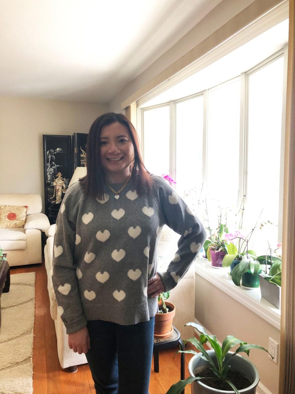 White Heart Sweater 10