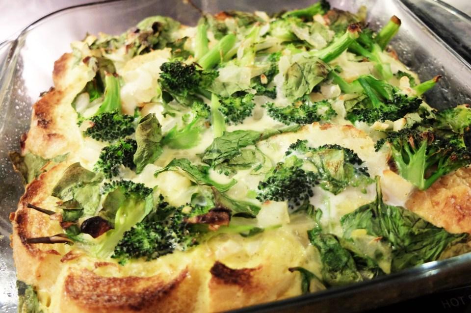 Broccoli & Spinach Strata 12