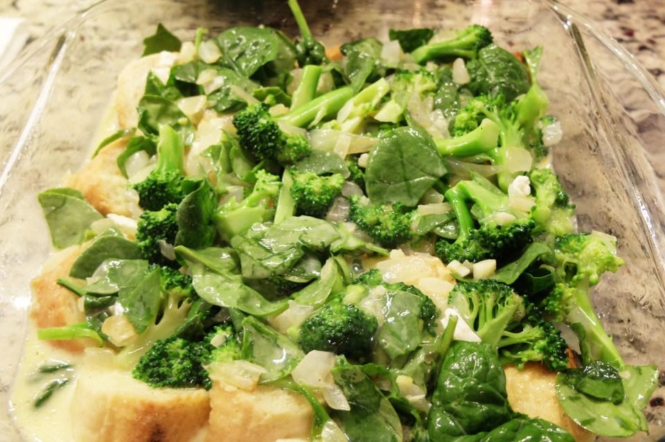 Broccoli & Spinach Strata 9