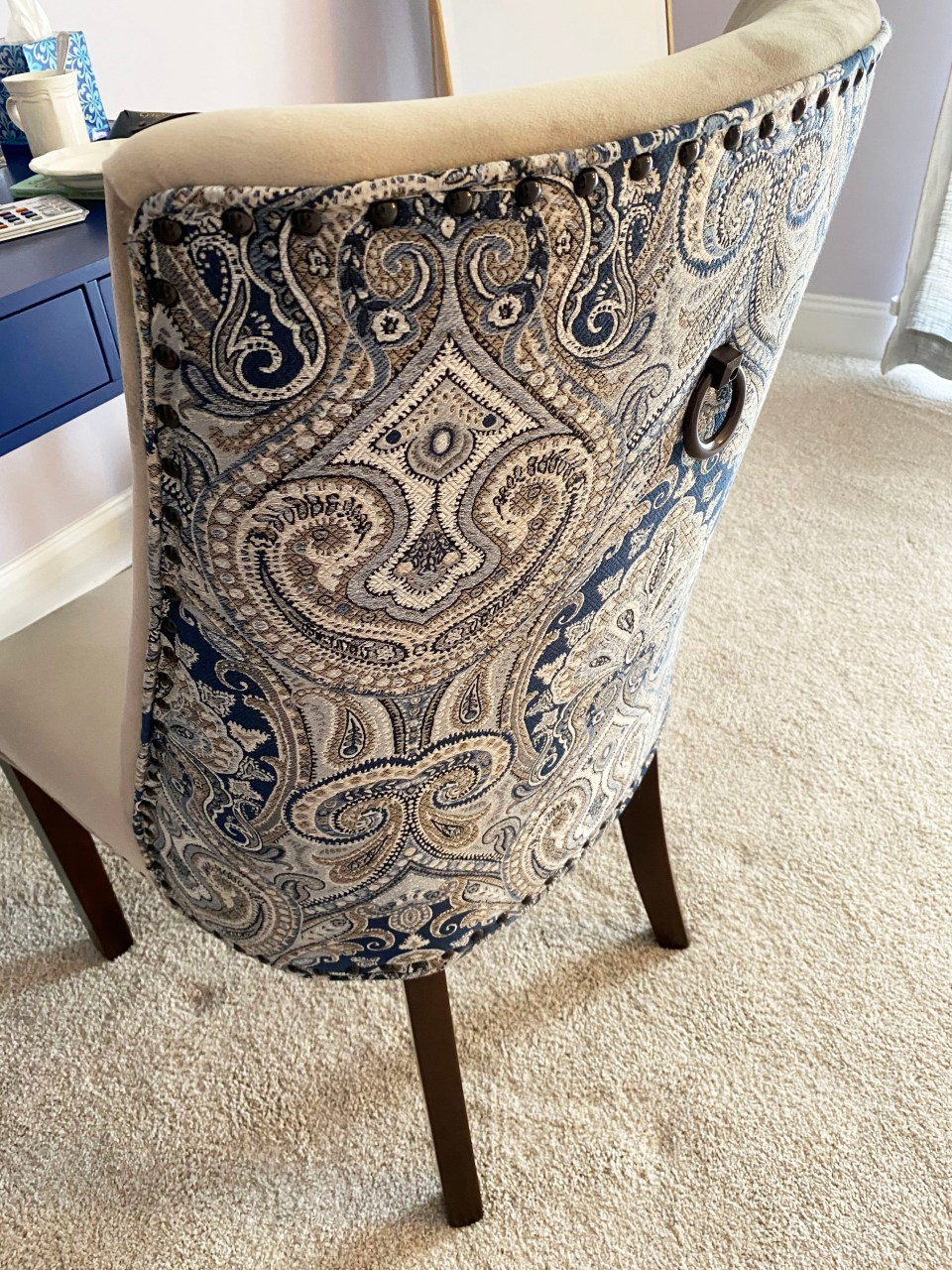 Dolce Blue Dining Chair 1