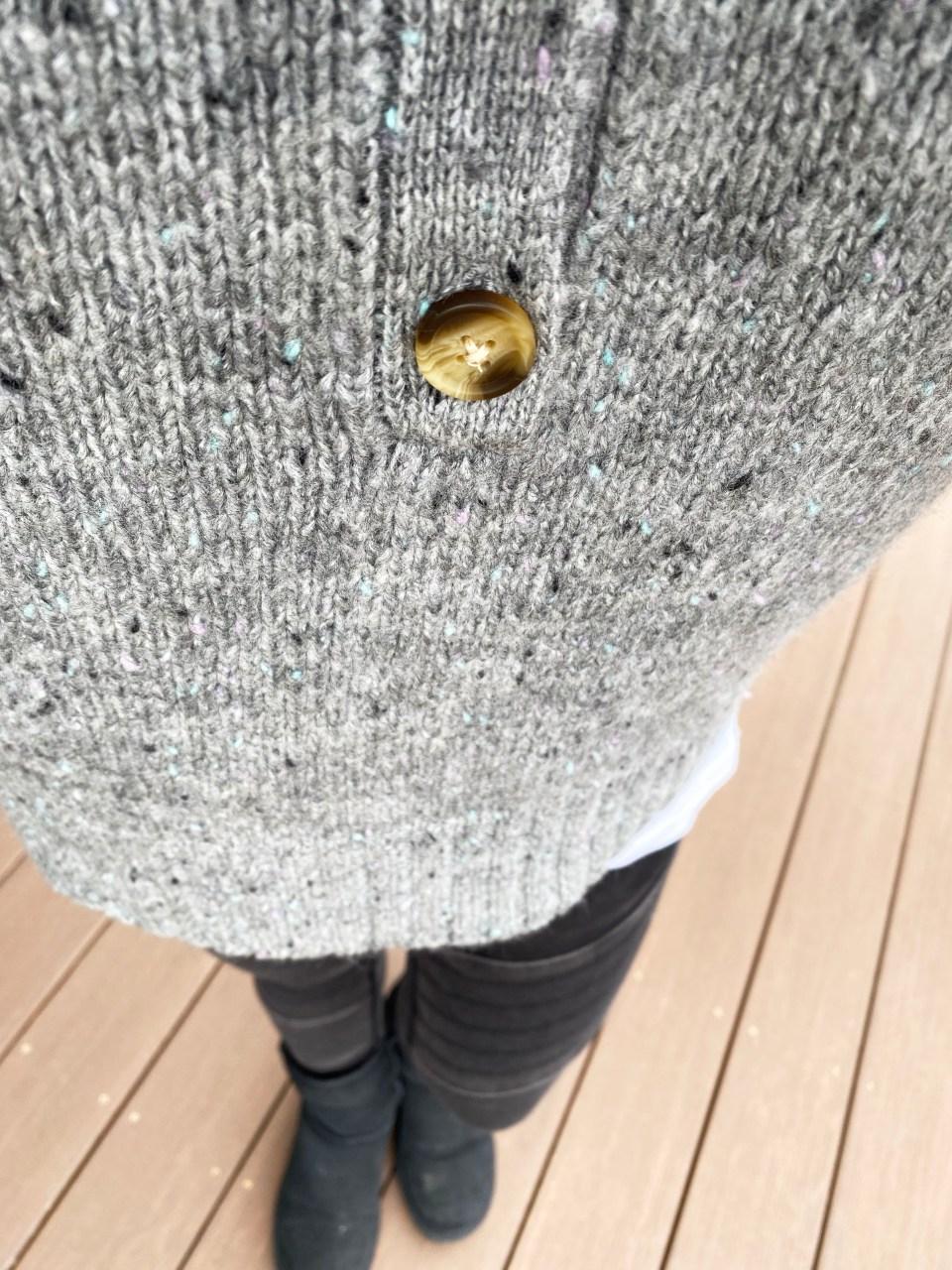 Grey Slouchy Henley Sweater 12