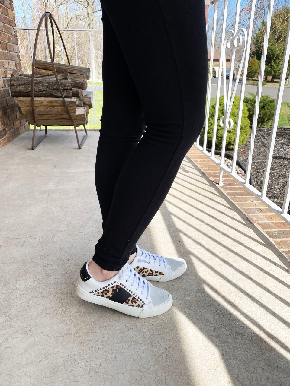 Leopard Studded Sneakers 10
