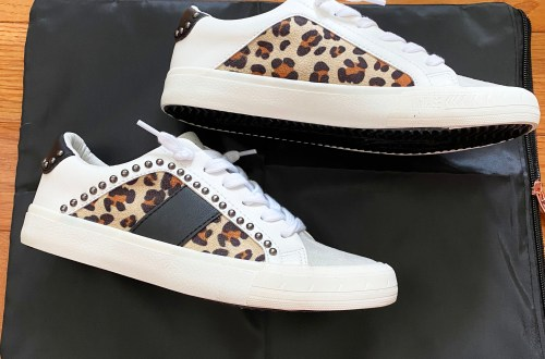 Leopard Studded Sneakers