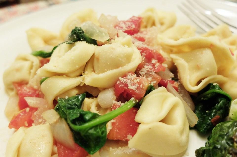 Tortellini w Spinach & Tomato 16