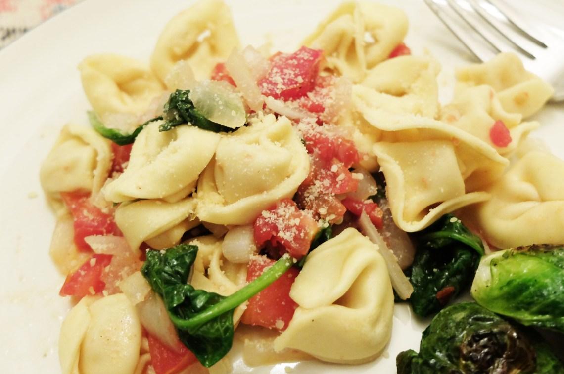 Tortellini w Spinach & Tomato