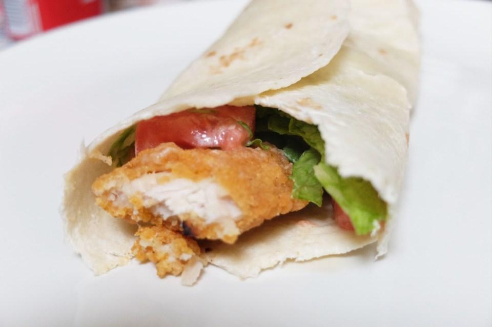 Easy Chicken Wrap 7