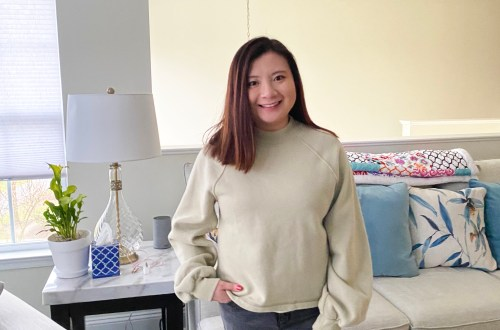Green Mini Mock Neck Sweatshirt