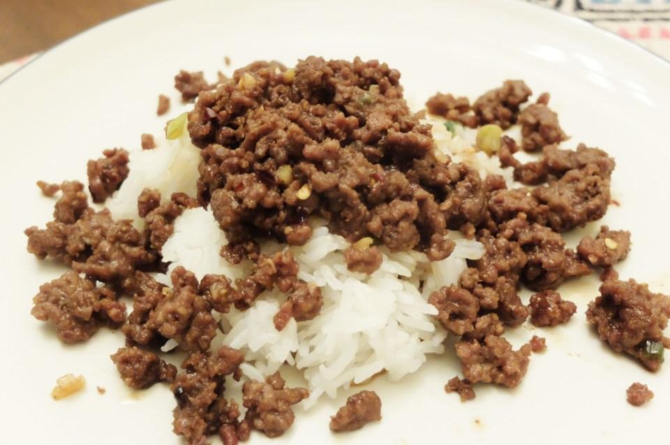 Korean Beef Over Rice 5