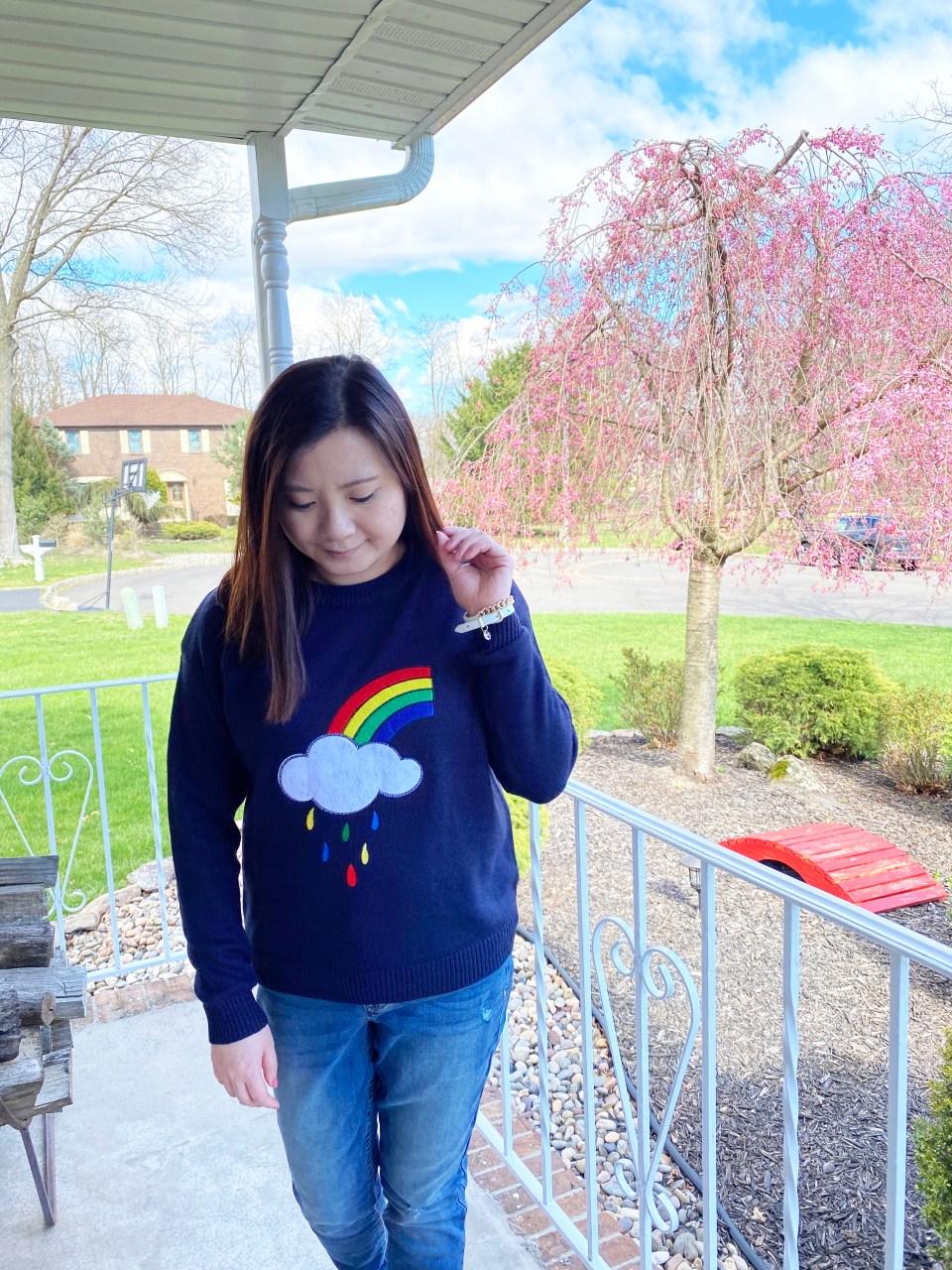 Rainbow & Cloud Sweater 5