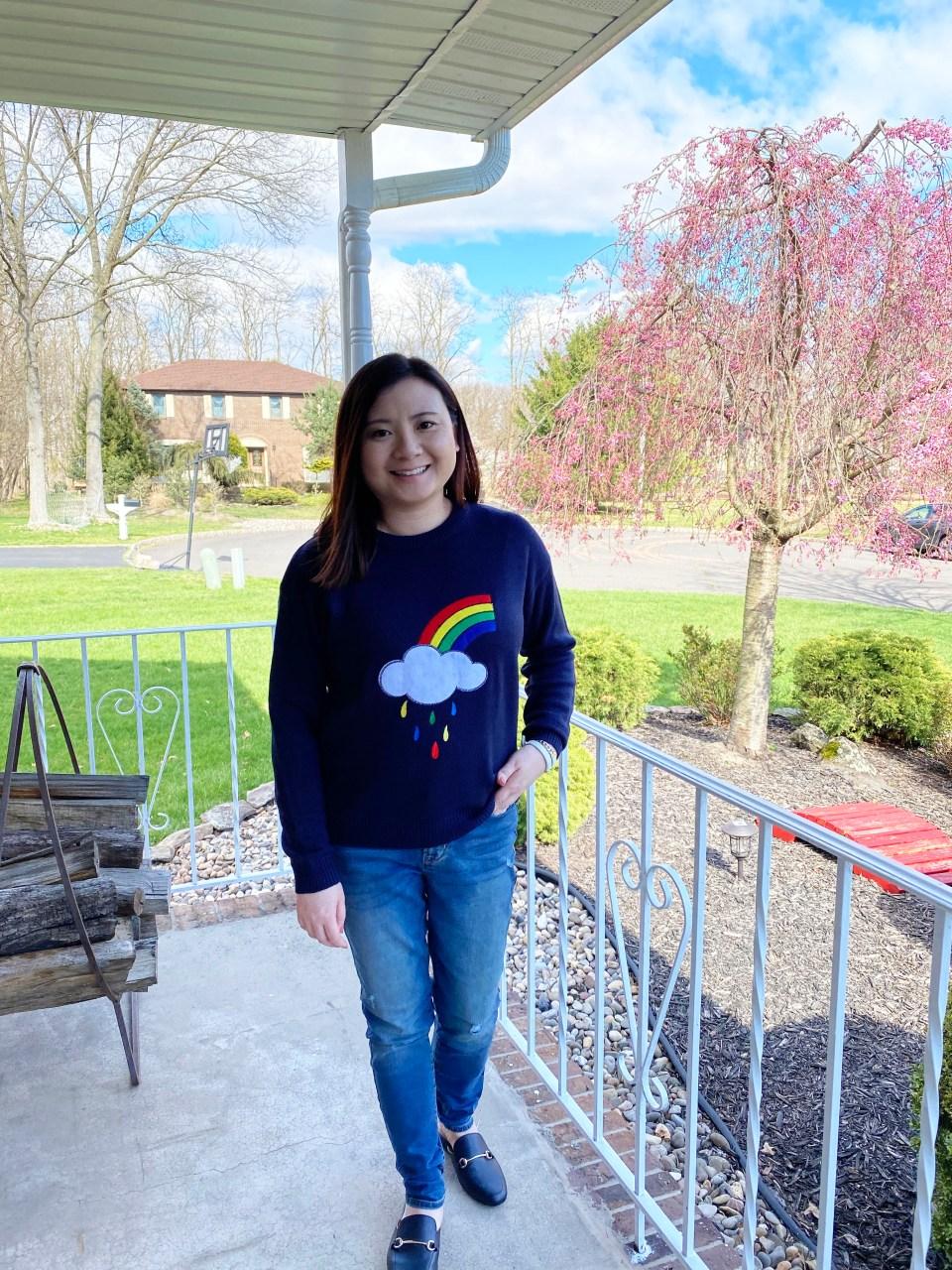 Rainbow & Cloud Sweater