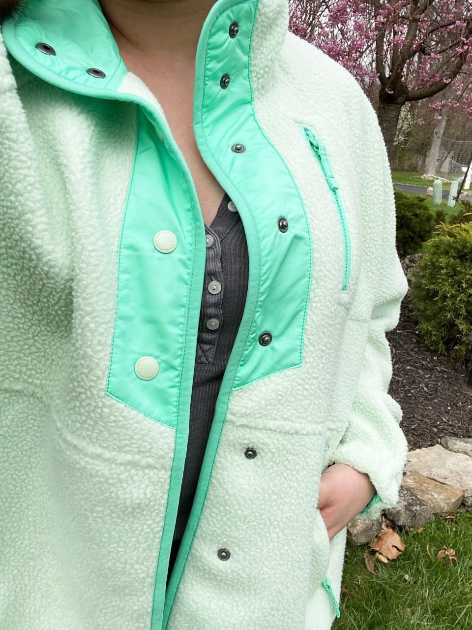 Snap Button Fleece Jacket 19