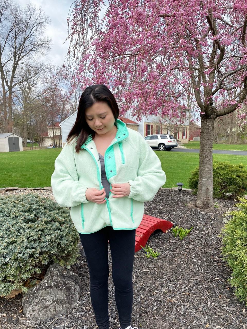Snap Button Fleece Jacket 3