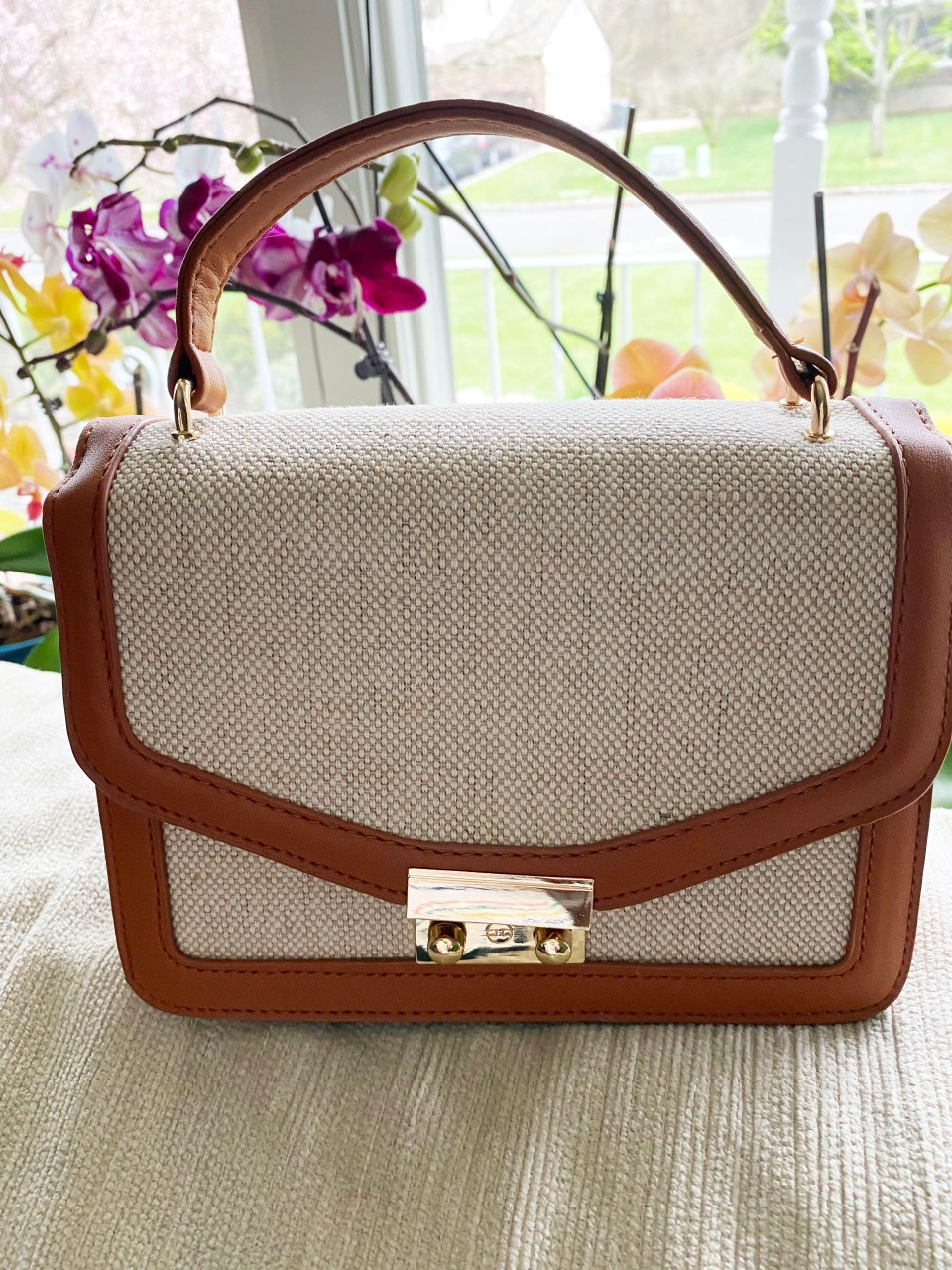 Structured Canvas Crossbody Bag