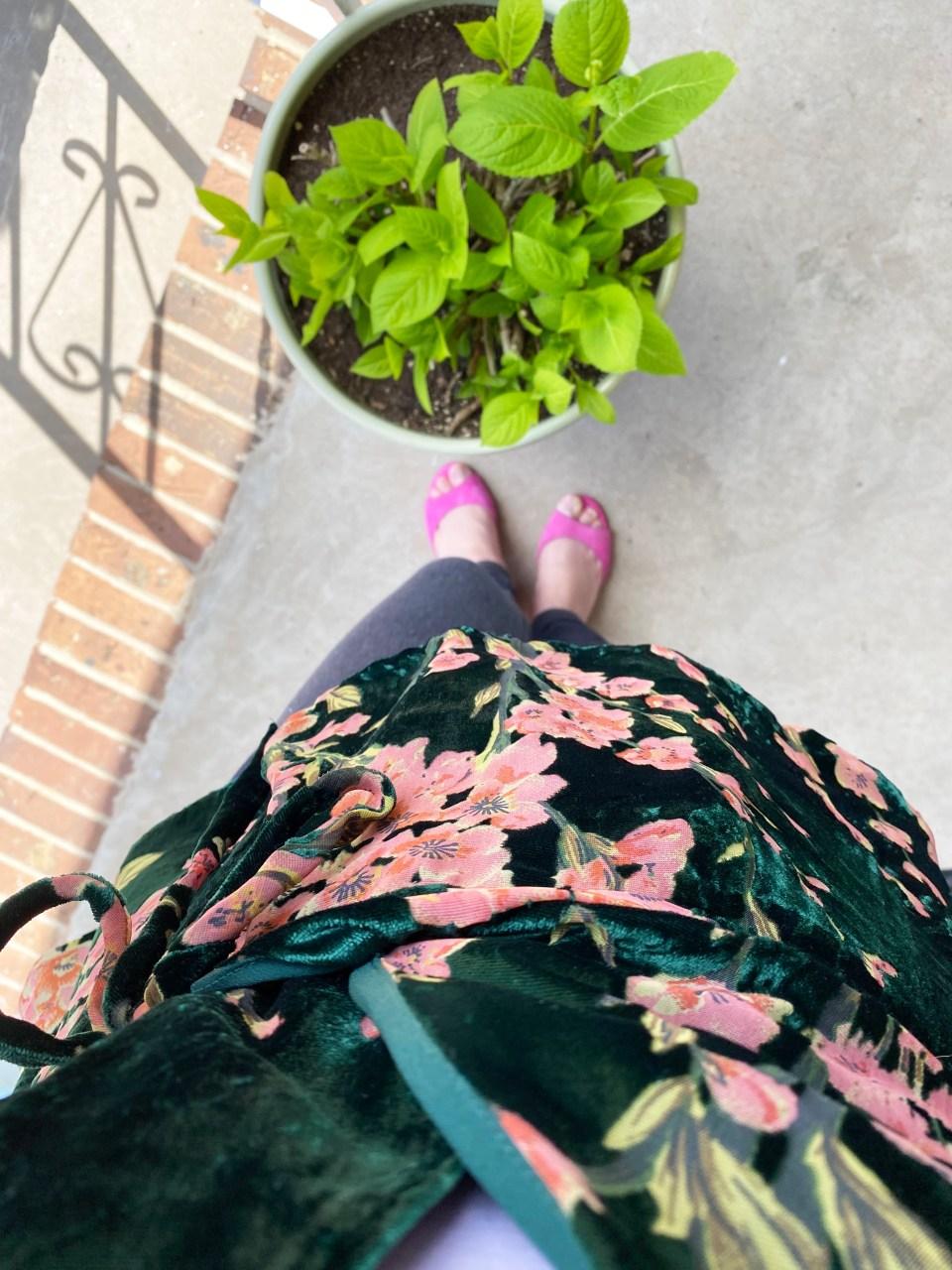 Velvet Burnout Floral Wrap Top 16