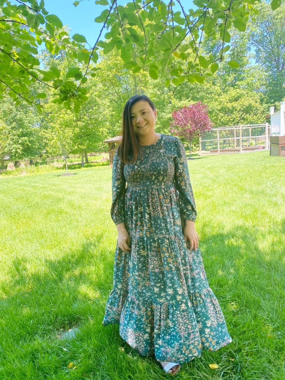 Smocked Babydoll Maxi Dress 13