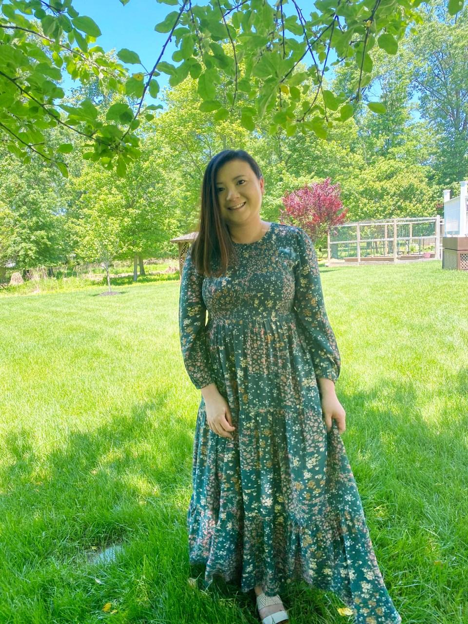 Smocked Babydoll Maxi Dress 14