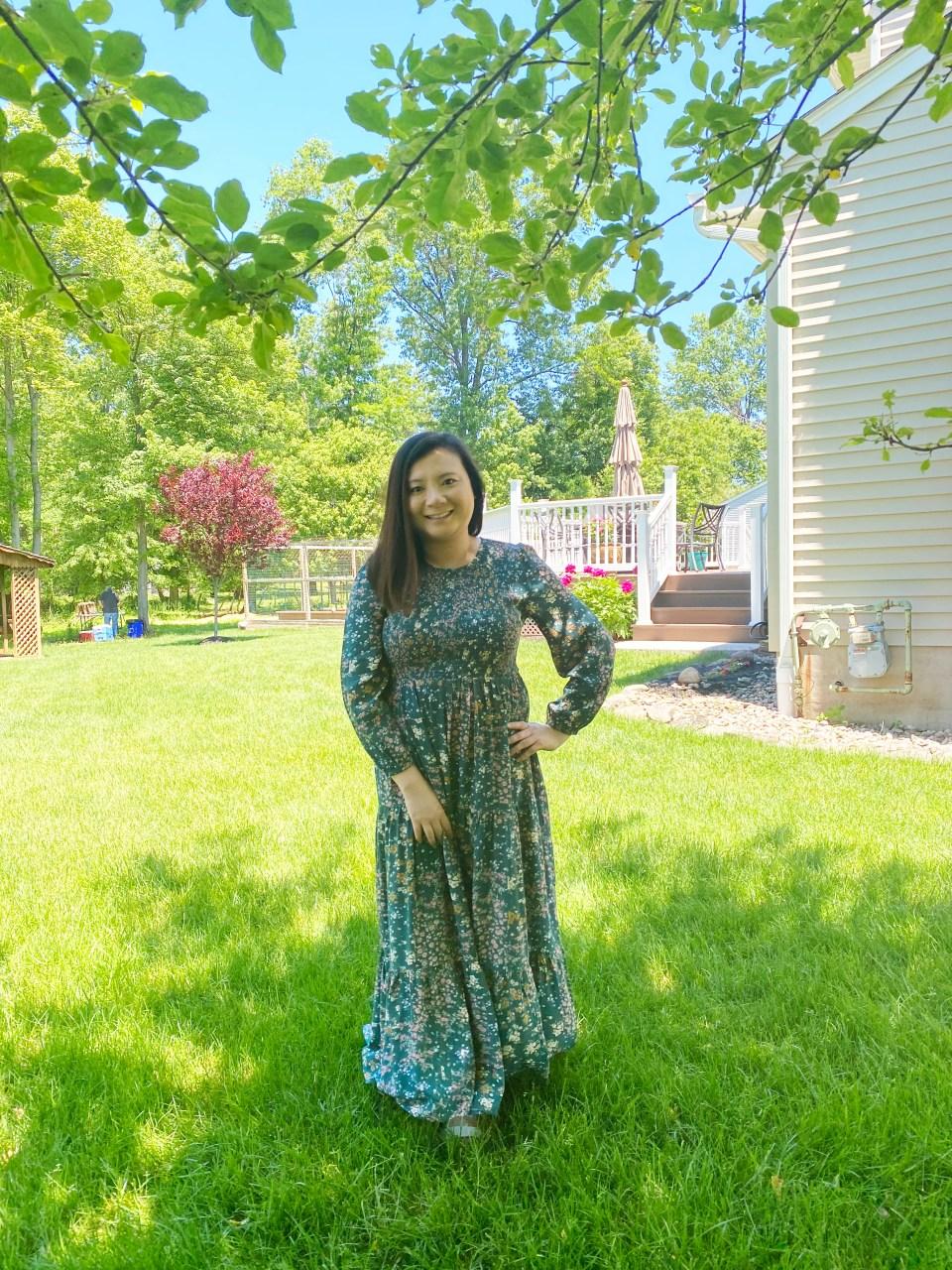 Smocked Babydoll Maxi Dress 5