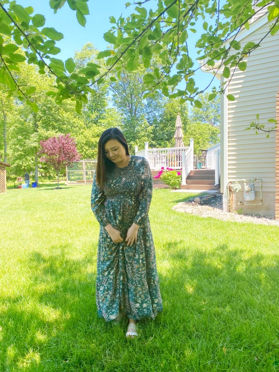 Smocked Babydoll Maxi Dress 6