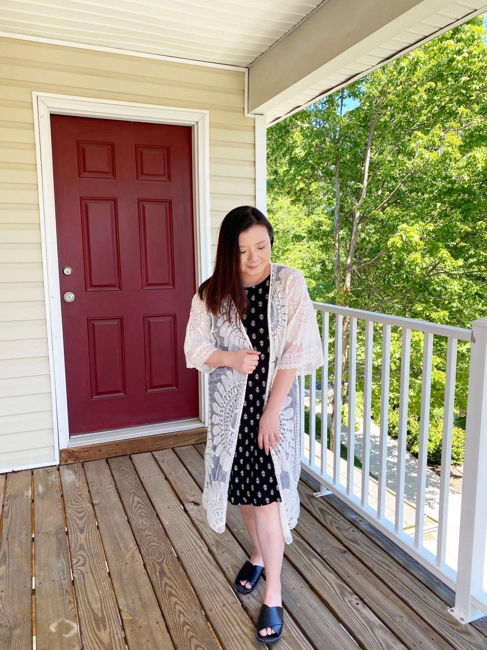 Swing Dress + Lace Kimono 1