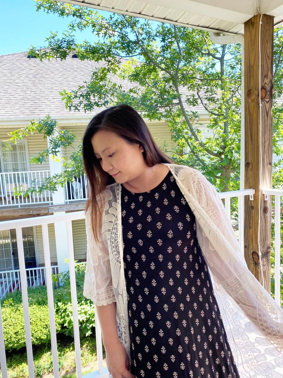 Swing Dress + Lace Kimono 10