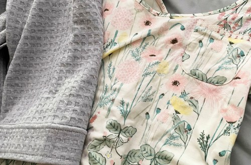 Floral Nightgown + Waffle Knit Robe