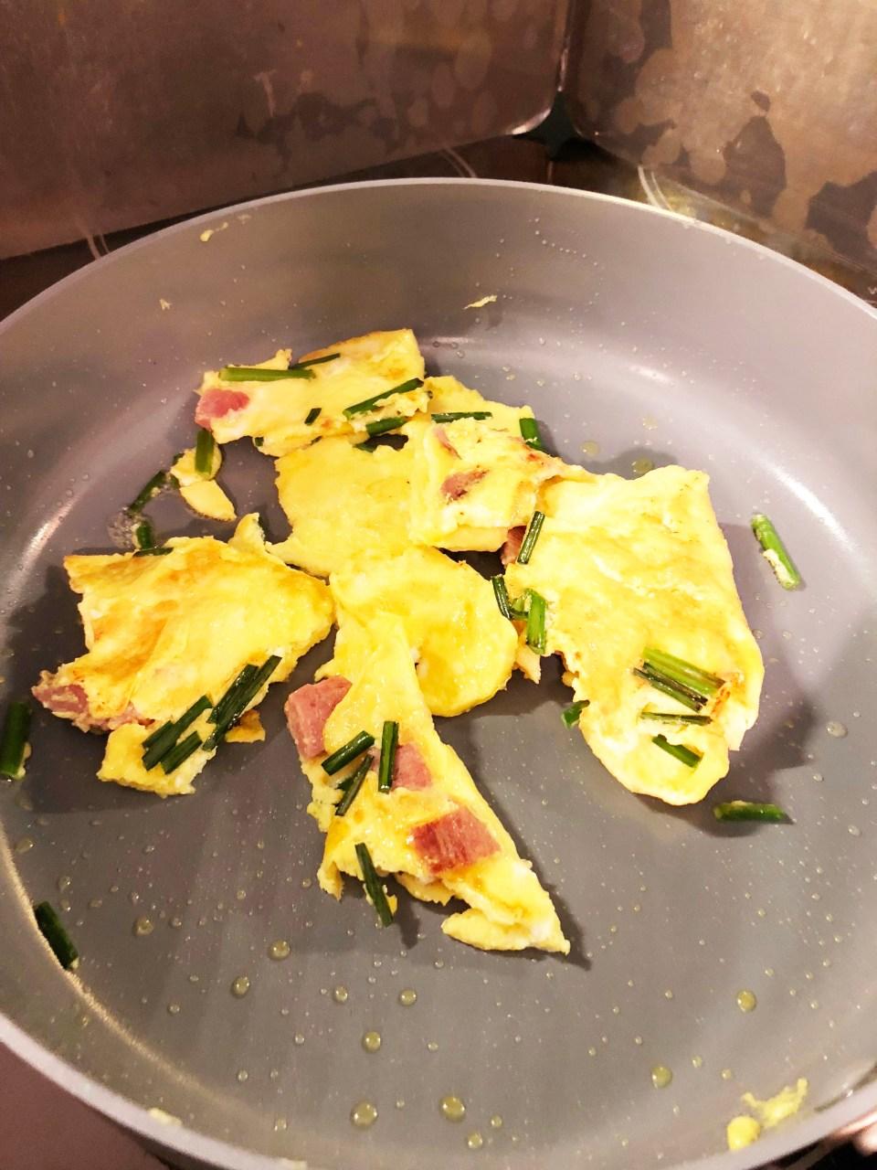 Ham & Chive Omelet 6