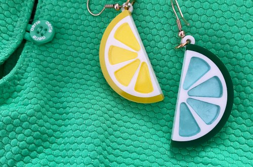 Lemon Lime Acrylic Earrings
