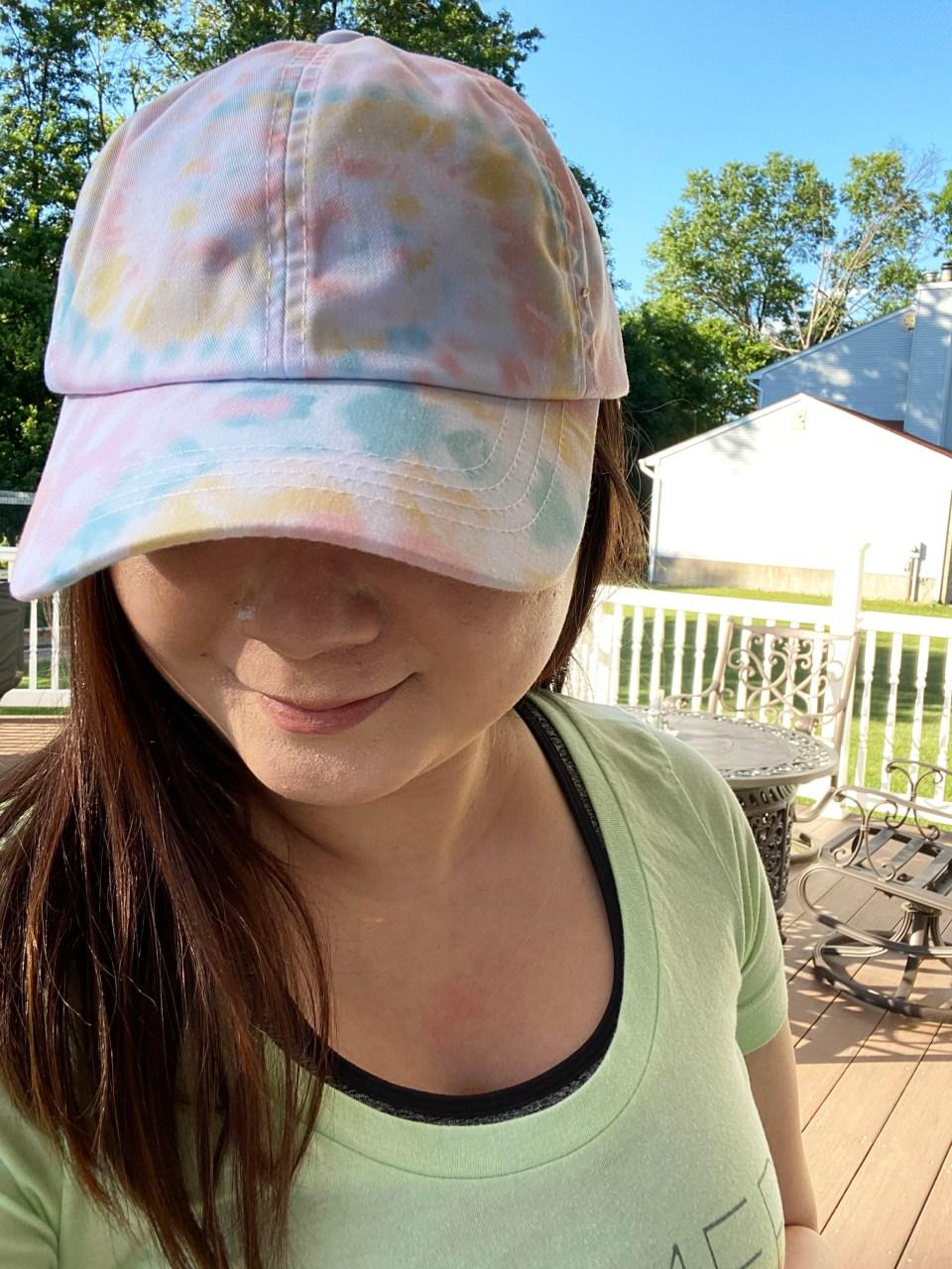 Tie Dye Baseball Cap 1