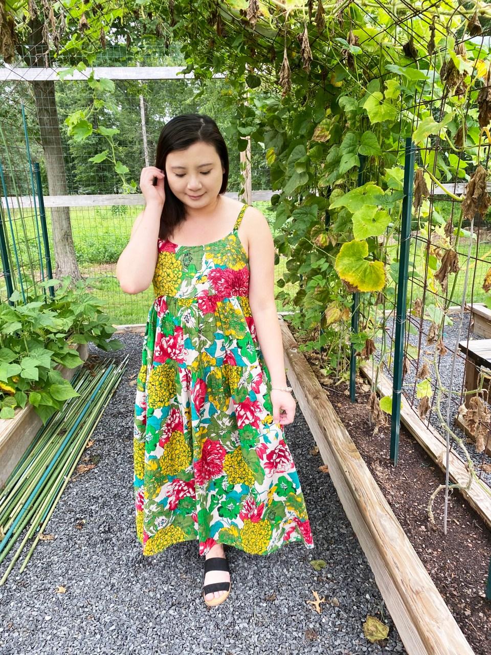Floral Swing Maxi Dress 4