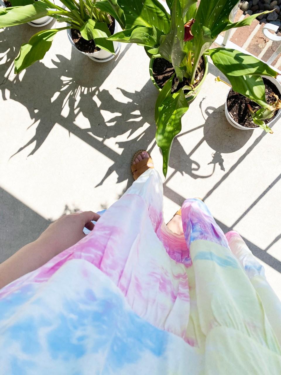 Tie Dye Babydoll Dress 10