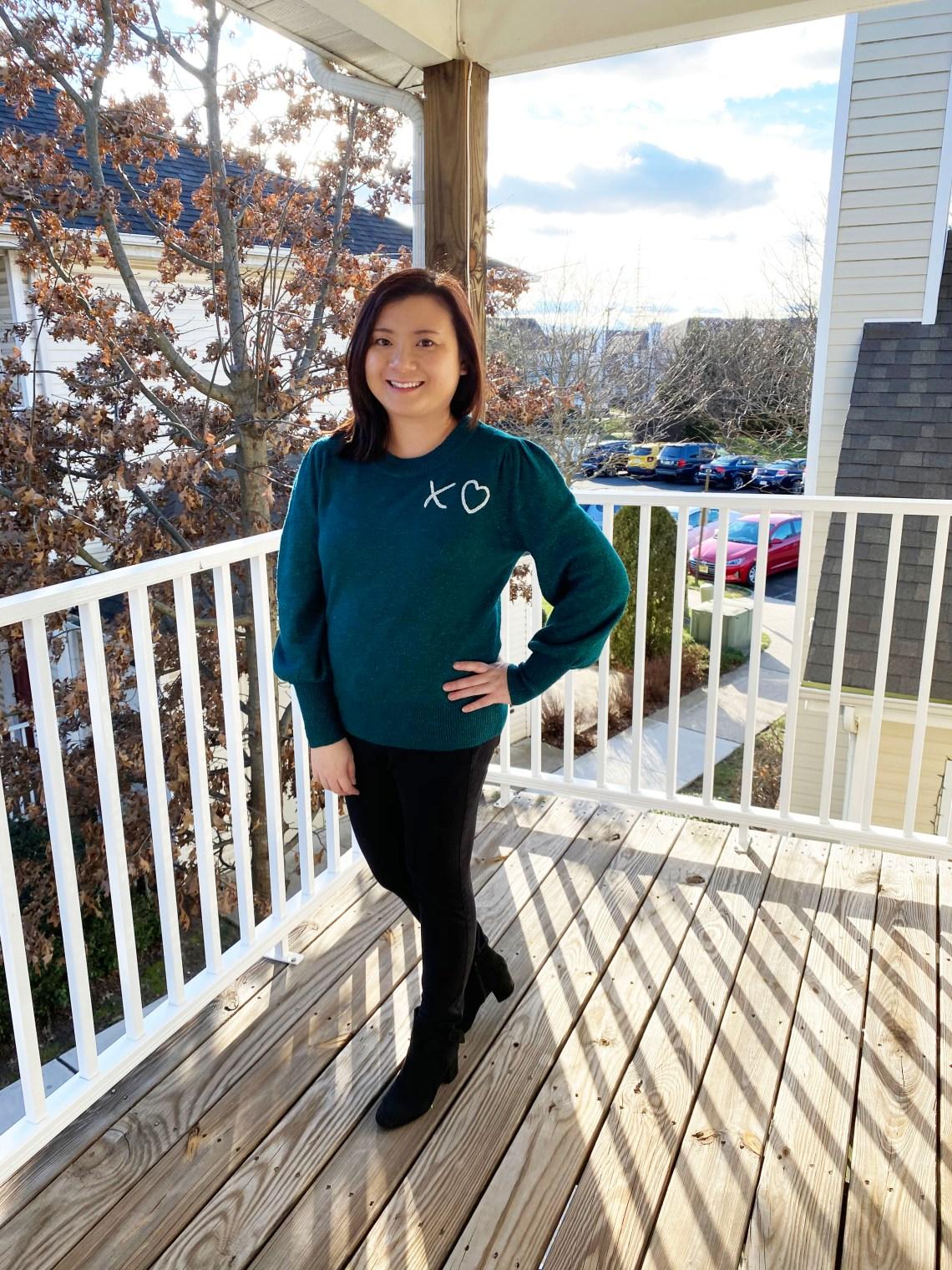 Teal-XO-Sweater